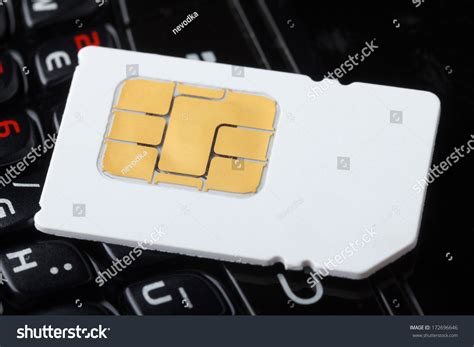 Sim Card Phone Number Lookup Sim Card On Cell Phone Keyboard Stock Photo 172696646