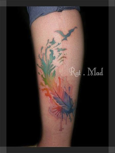 watercolor tattoo by alejandra hurtado rat mad tattoo