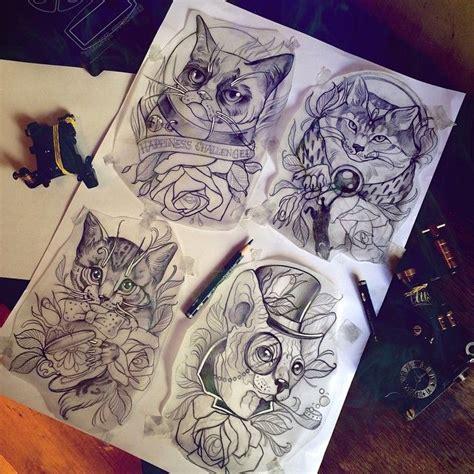 cat tattoo neo cats cat drawing sketch traditionaltattoos tattoo