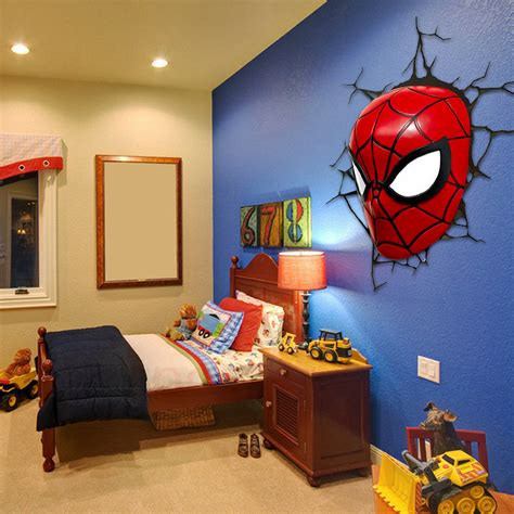 kids bedroom lights aliexpress com buy 3d poster wall l cartoon spiderman