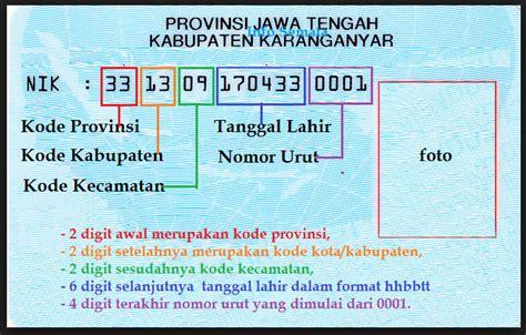 format nik ktp arti dari nomor induk keluarga nik inpres samata