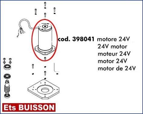 Dea Gulliver dea gulliver moteur 24v r 233 f 233 rence 398041