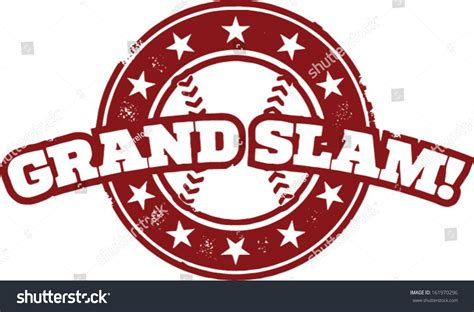 baseball grand slam home run st stock vector