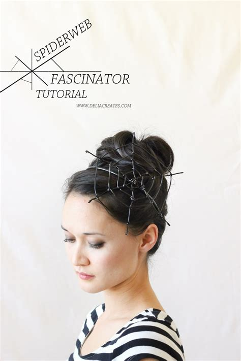 quick hair tutorial using a fascinator head band youtube 15 easy diy halloween hair accessories babes in hairland