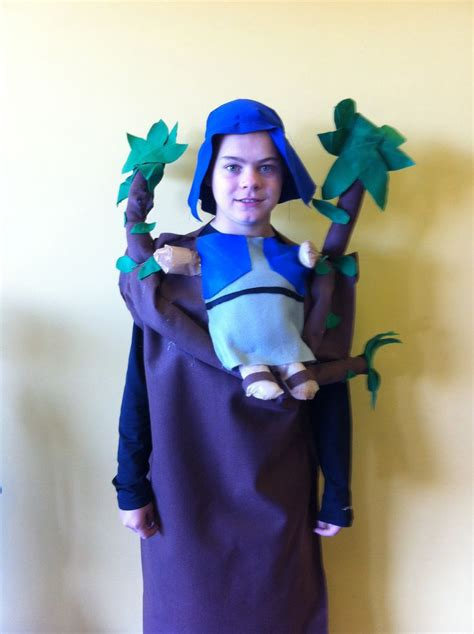 homemade zaccheus costume  church sew halloween