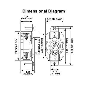 leviton l14 30 wiring diagram leviton 30 125 250 volt nema 14 30r flush wiring