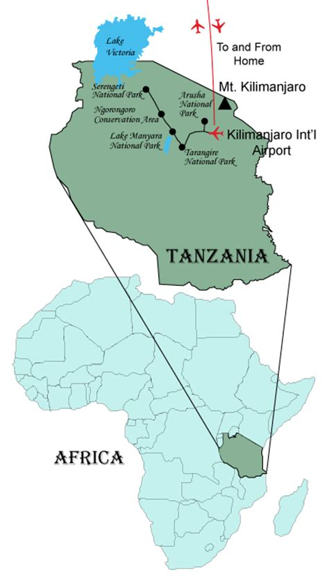 africa map tanzania tanzania safari page