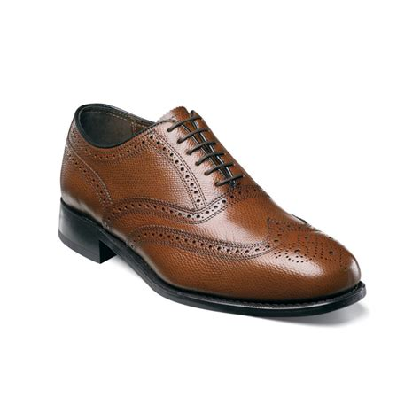 florsheim oxford shoes florsheim wing tip oxford shoes in brown for