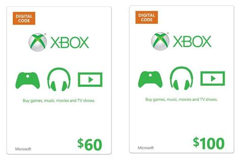 xbox360 gift card template 60 microsoft xbox live gift card only 53 or 100 xbox