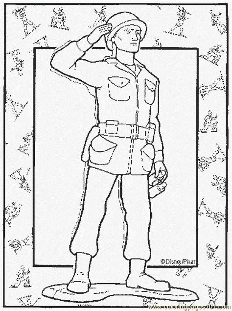 coloring pages army cartoons gt toy story free