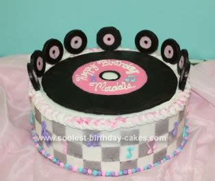 diy rock and roll layers coolest fifties rock and roll cake