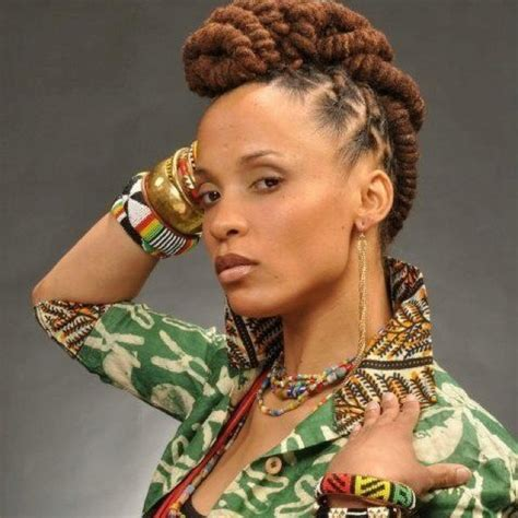 black women mohawk hairstyles and dreads in the middle 15 best images about loc mohawk on pinterest natural