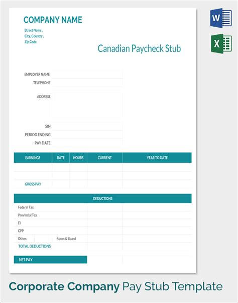 Sle Pay Stub Template 24 Download Free Documents In Pdf Word Excel Payroll Check Template Pdf