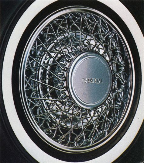 Chrysler Wheel Covers by 1981 83 Chrysler Imperial Wire Wheel Cover Classic Cars