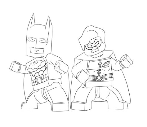 Batman Coloring Pages For Kids And Make This Lego sketch template