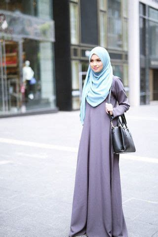 Tiara Maxy Dress Ak Pakaian Wanita Muslim Navy Terlaris steel blue scarves and grey on