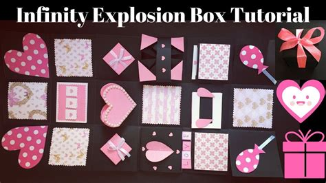 explosion box tutorial tagalog diy valentine s day gift never ending box diy infinity