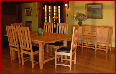 mission style dining room furniture by schrocks of walnut craftsman style dining room furniture craftsman style