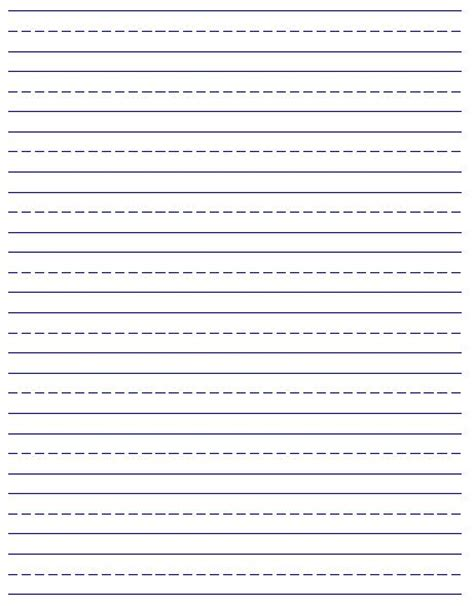 free printable elementary handwriting paper 41 best notebook paper templates images on pinterest