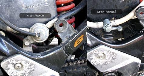 satria fu holic mengganti kran bensin vakum ke manual