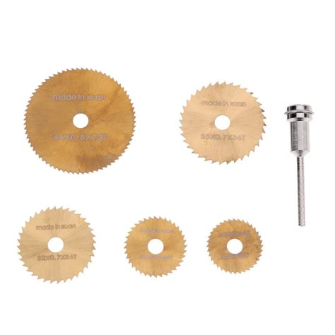 Set Hello 6 Pcs 6pcs set mini hss circular saw blade rotary tool for dremel metal cutter power tool set wood