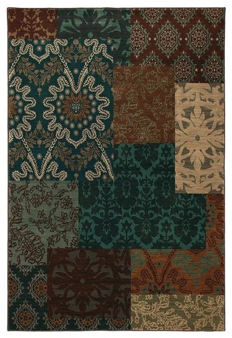 Teal Colored Area Rugs Contemporary Hallway Runner 2 4 Quot X8 3 Quot Runner Multi Color Teal Area Rug Contemporary