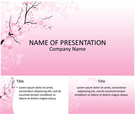 powerpoint templates free download japan cherry blossom powerpoint template templateswise com