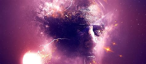 create a background create a human in universe background photoshop