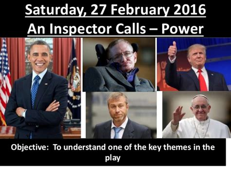 an inspector calls themes slideshare l1 power