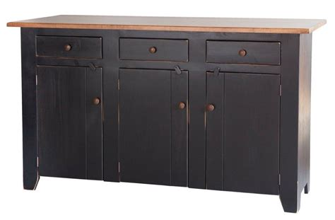 Kitchen Island With Storage Cabinets Kitchen Island W Storage Cabinet Big Maple Primitive Country Farm Furniture Ebay