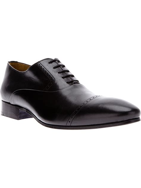 black oxford shoe kenzo houston oxford shoe in black for lyst