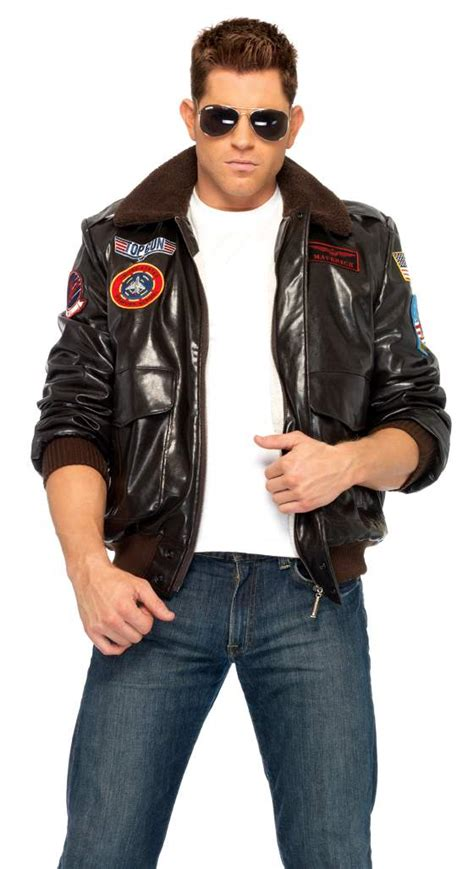 mens official top gun bomber jacket 80s army fancy dress costume s top gun bomber jacket apple costumes s 80s costumes