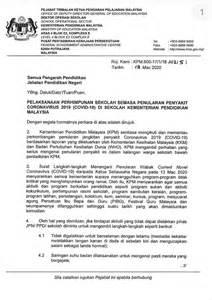 Covid-19 Saranan KPM Semasa Penularan Wabak