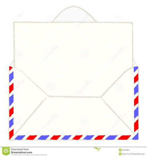 printable envelope vector envelope with blank letter stock vector illustration of