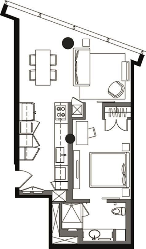 veer towers floor plans deluxe studio floor plan vds 1a 187 veer towers 187 citycenter
