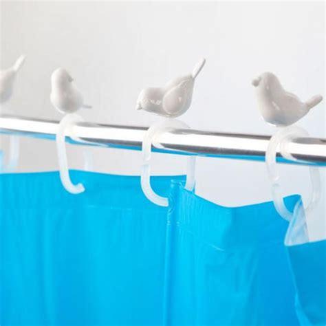 bird shower curtain rings peeking bird shower curtain hooks animi causa boutique