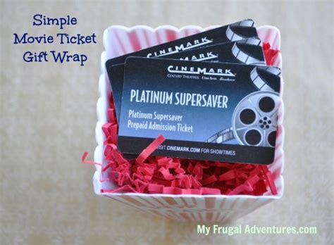 Movie Ticket Gift Cards - teacher gift idea movie ticket gift wrap my frugal adventures