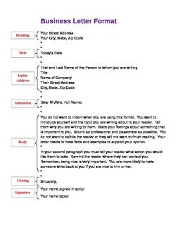 business letter writing guide pdf business letter format outline by kdema teachers pay