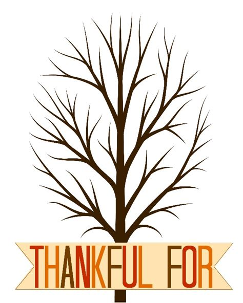 Thankful Tree Template thankful tree printable