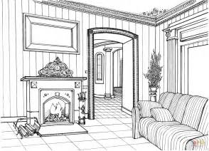 home design coloring book fireplace room coloring page free printable coloring pages
