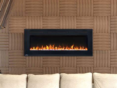 Thin Electric Fireplace by Napoleon 42 In Wall Mount Electric Fireplace Nefl42fh