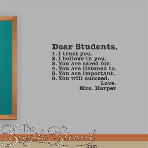 educational wall decals graphics inspirational quotes