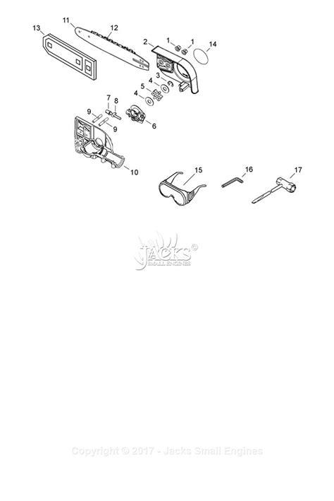 echo   sn   parts diagram  sprocket guard guide bar tools