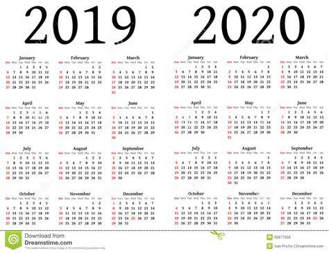 kalender voor  en  vector illustratie illustratie bestaande uit ontwerper