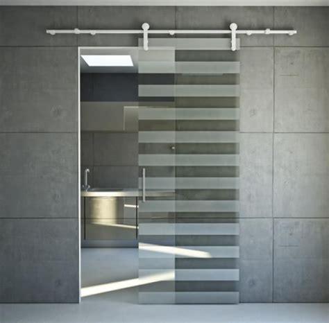 porte trasparenti porta a righe trasparenti satinate a vetro scorrevoli