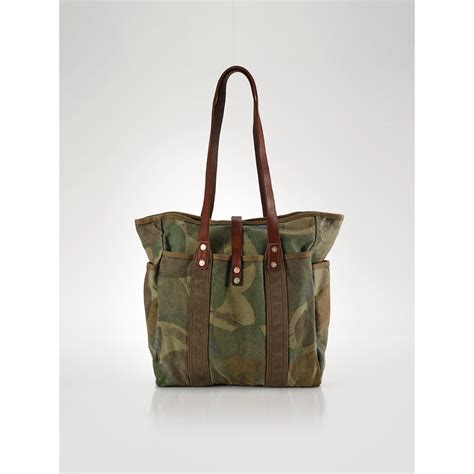 S5 Totebag Cd Polos lyst polo ralph camo canvas tote in green for