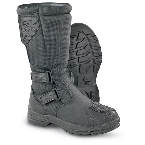 atv boots for s rocky 174 atv quadsport waterproof boots black