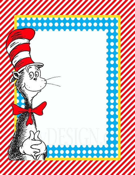dr seuss birthday card template dr seuss border templates like this item its so