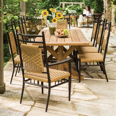Garden Patio Decor Lloyd Flanders 86 Quot X 40 Quot Rectangle Trestle Base Dining Table 286186