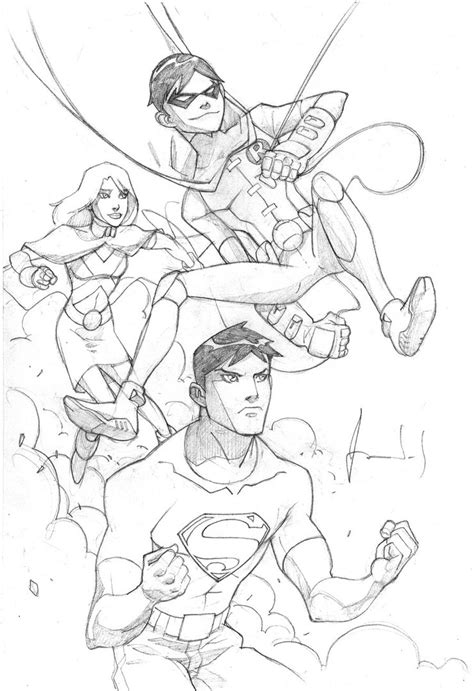 Young Justice Robin Coloring Pages Coloring Pages Superboy Coloring Pages